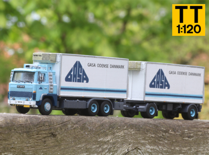 Scania 141 refrigerated lorry 1:120 scale 3d printed