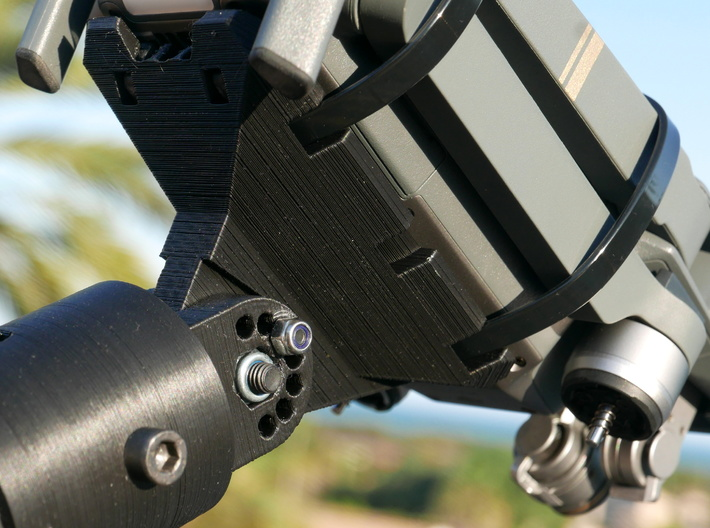 MavicPole: Mavic for pole Video & Photography 3d printed Attached with two (or three) zip ties