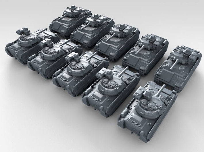 1/700 US M2A3 Bradley Armored Personnel Carrier x1 3d printed 3d render showing product detail