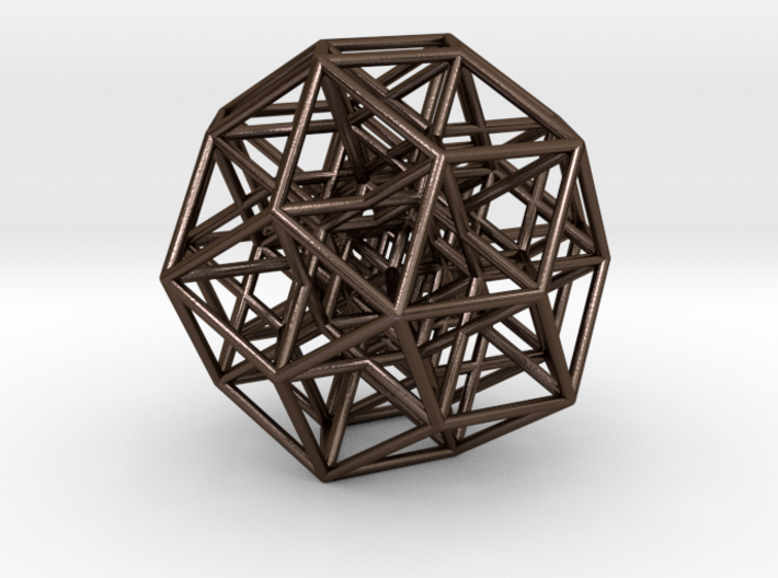 6D Cube projected into 3D 3d printed