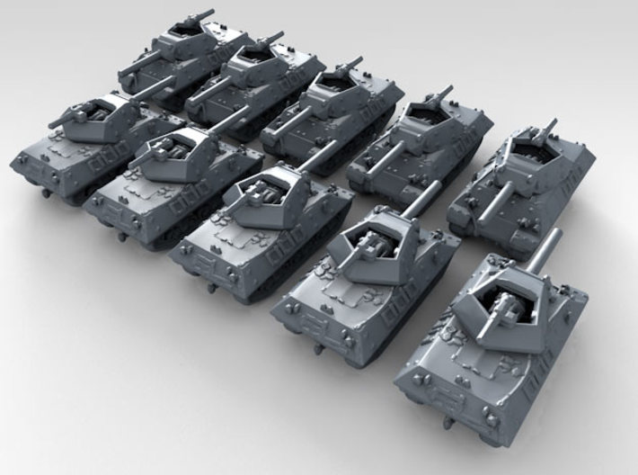 1/600 US M10 Wolverine Tank Destroyer x10 3d printed 3d render showing product detail