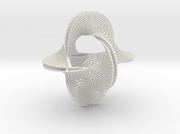 Honeycomb-borromean-surface 3d printed