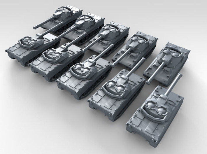 1/700 US Rapid Deployment Force Light Tank x10 3d printed 3d render showing product detail