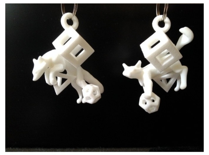 Fox In Polyhedrons Set 3d printed freedom/control...matching set of pendants