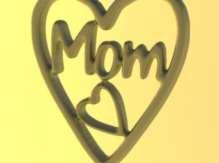 MOM Pendant (3cm) 3d printed Rendered view