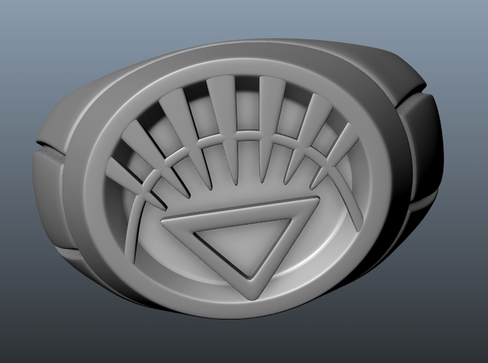 White Lantern Ring 3d printed Update : Light Rays/Spikes thickened