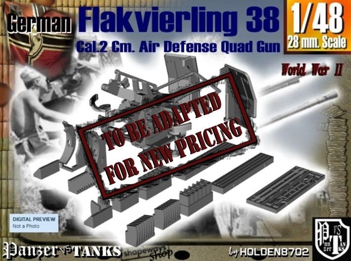 1-48 Flakvierling 38 3d printed
