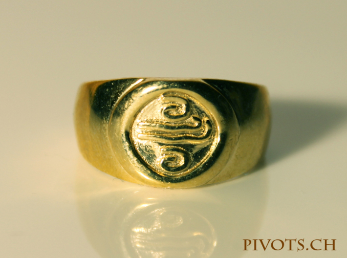 4 Elements - Air Ring 3d printed Polished Brass