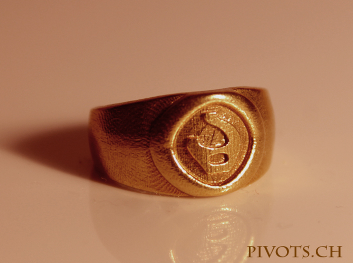 4 Elements - Fire Ring 3d printed Raw Brass