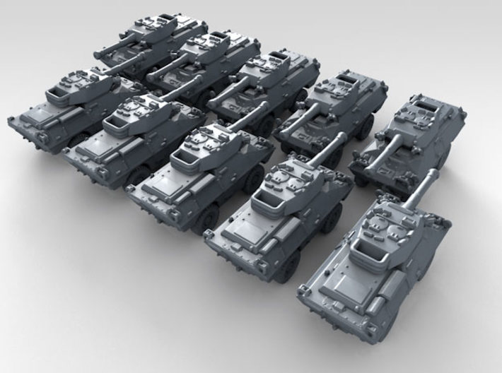 1/600 US Dragoon 300 LFV-90 Tank Destroyer x10 3d printed 3d render showing product detail