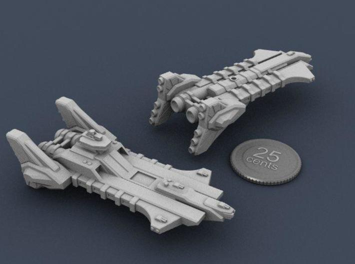 Union Heavy Carrier 3d printed Renders of the model with a virtual quarter for scale.