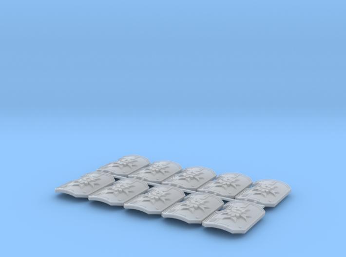 10x Kings Templar - Marine Boarding Shields w/Hand 3d printed