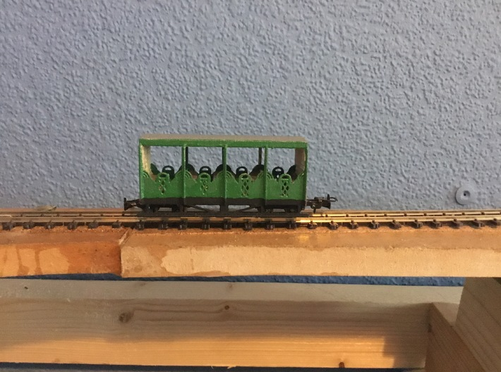 Ffestiniog Rly Hudson Toastrack Coach No.39 Refurb 3d printed The pre production model shown