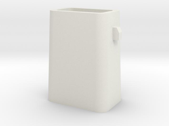 Stahlkokille 2 Zapfen längs ohne Boden 1:120 3d printed