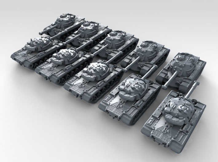 1/700 US M48 Patton Main Battle Tank x10 3d printed 3d render showing product detail