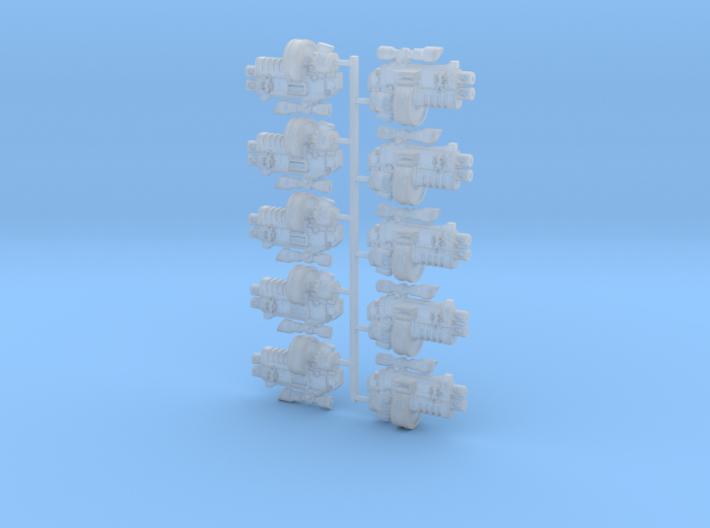 10x Great Wolf: Rapfire-TB2D w/Scope 3d printed