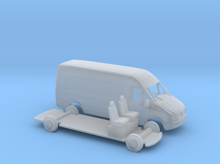1/148 Mercedes Sprinter Right Hand Drive Kit 3d printed