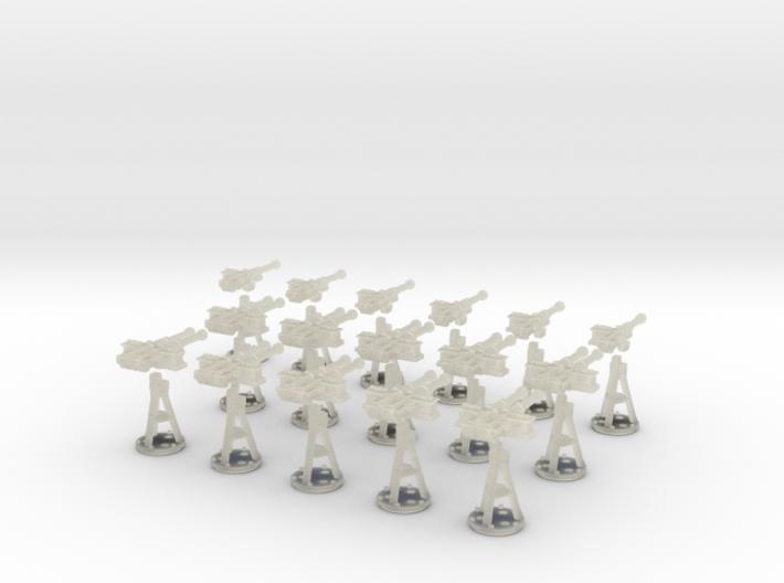 1-125 Cal 50 Modern Naval Mount Set1 3d printed