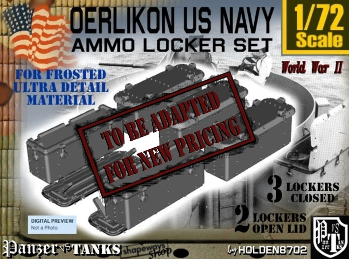 1/72 Oerlikon US Navy Ammo Locker FUD SET 3d printed