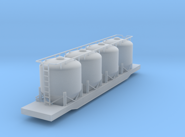 Closed Cylindrical Hopper Car - Nscale 3d printed