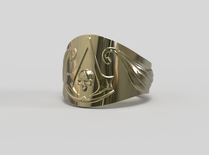 Pirate Assassin's ring 3d printed