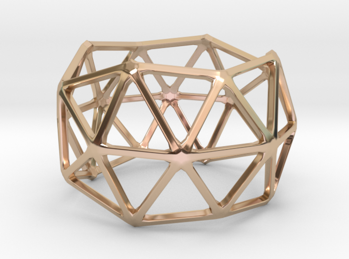 Catalan Bracelet - Pentakis Dodecahedron 3d printed