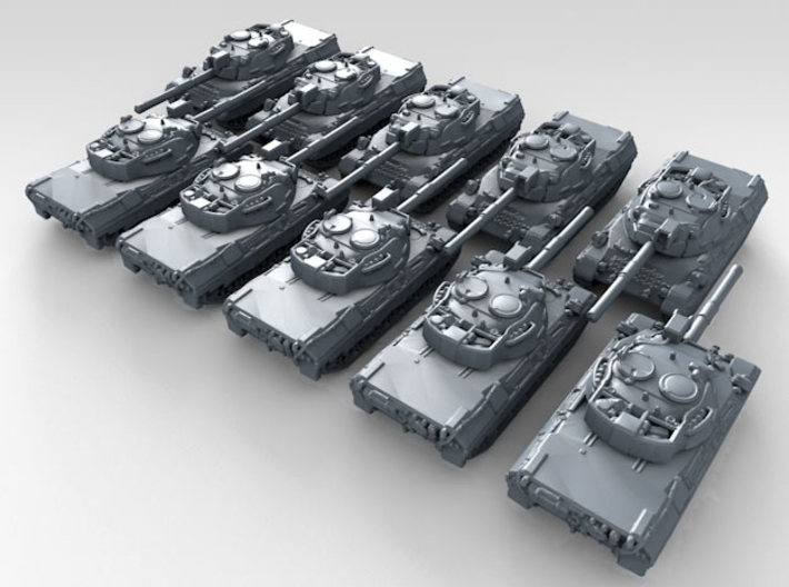 1/600 German Leopard 1 Main Battle Tank x10 3d printed 3d render showing product detail