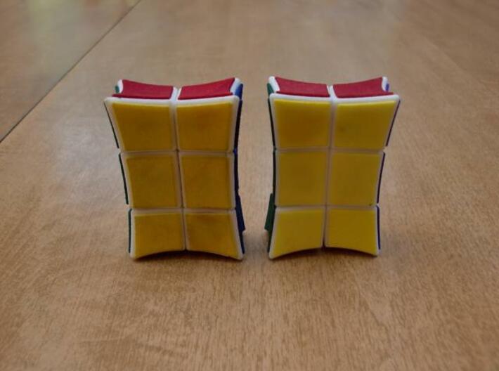 Inverted 1x2x3 V2 3d printed V1 on left, V2 on right.