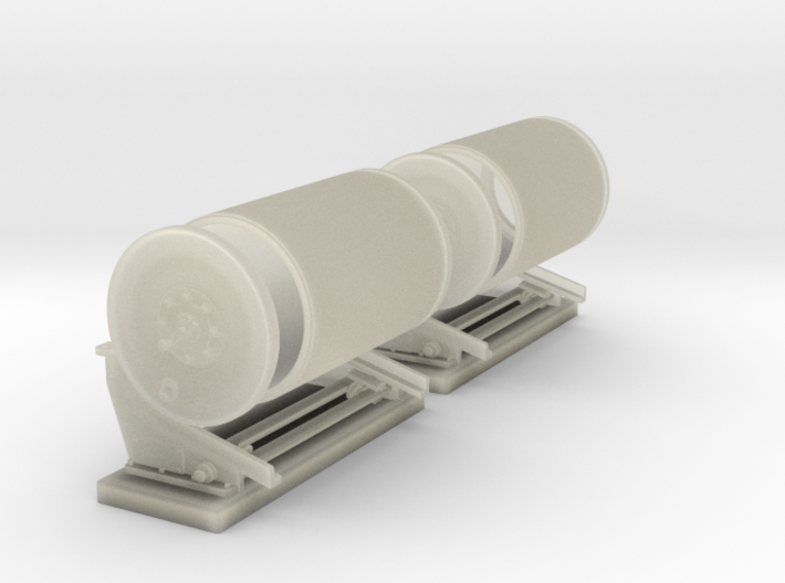 1/24 PT Boat Depth Charge W/ Rack Set 1 3d printed