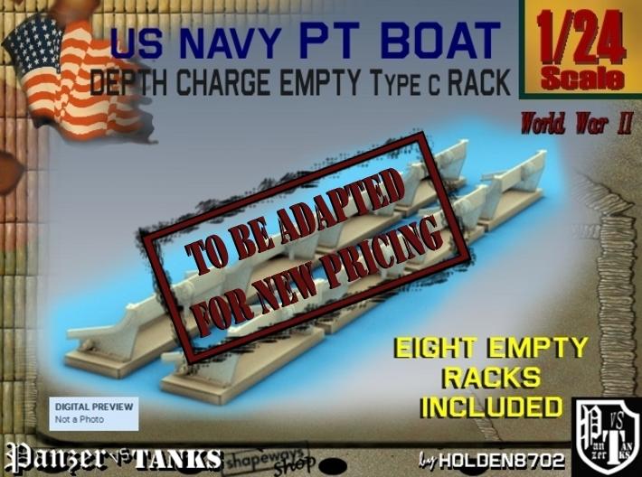 1-24 Depth Charge Empty Rack Type C Set2 3d printed