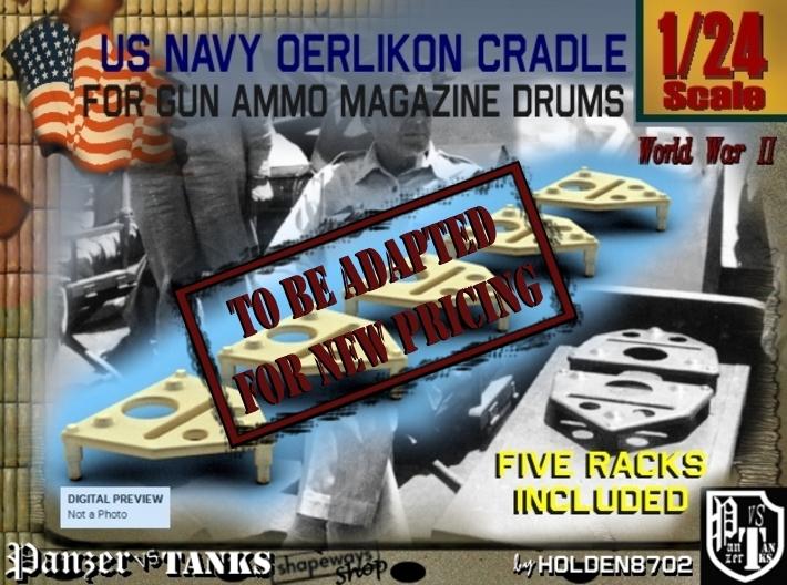1-24 Oerlikon Magazine Cradle Set1 3d printed
