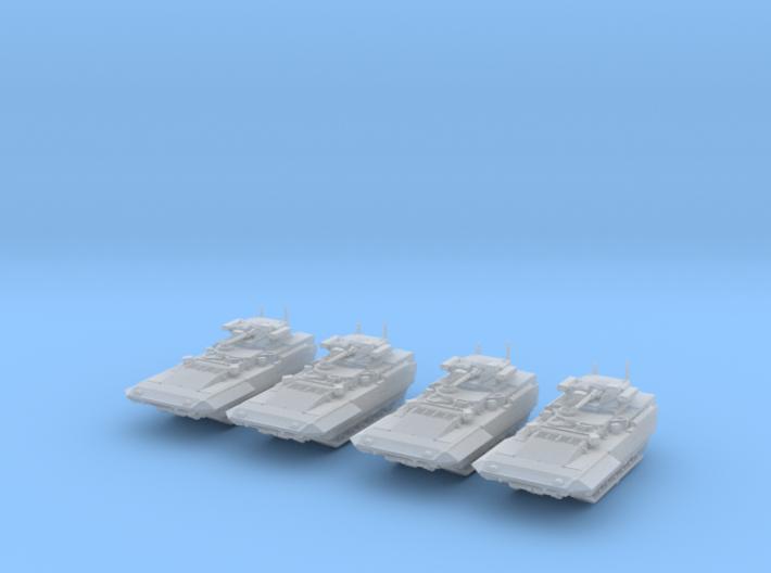 1/285 (6mm) Russian T-15 Armata HIFV x4 3d printed 1/285 (6mm) Russian T-15 Armata HIFV x4
