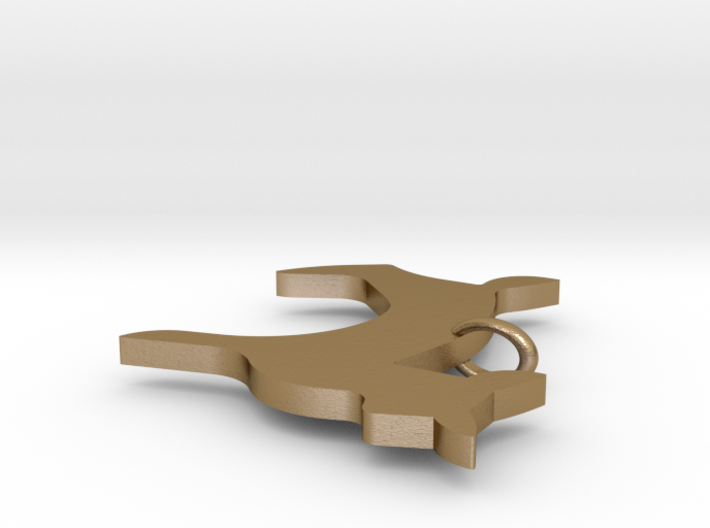 Arcadia Doe Necklace Pendant 3d printed