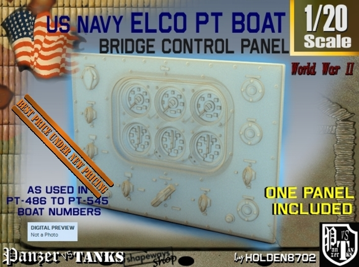 1-20 PT Boat Bridge Control Panel Typ4 3d printed