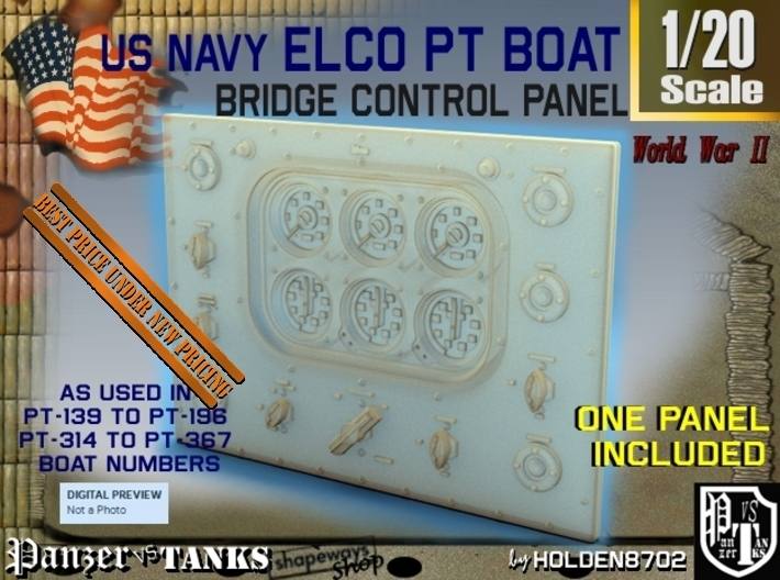 1-20 PT Boat Bridge Control Pannel Typ2 3d printed