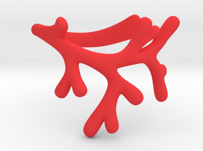 Sigrids bracelet - SMK 3d printed Coral bracelet in a vivid red