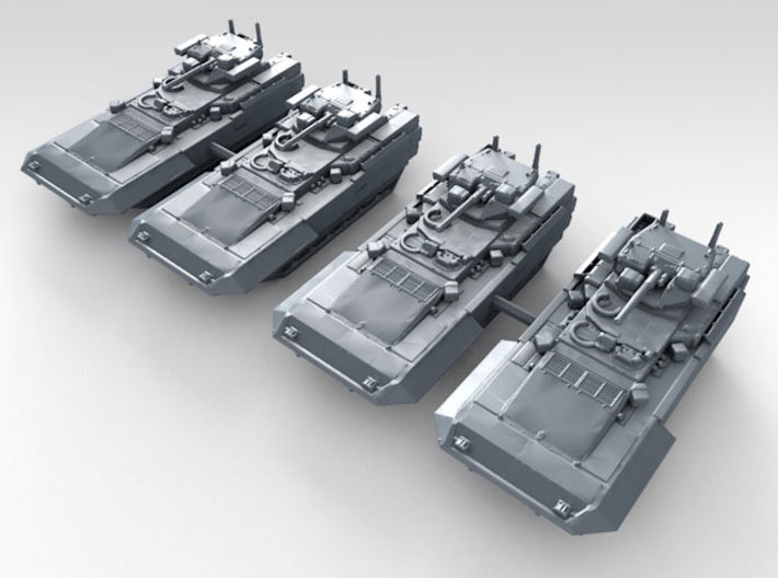 1/350 Russian T-15 Armata HIFV x4 3d printed 3d render showing product detail
