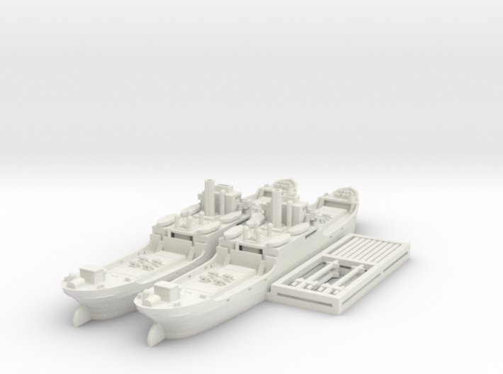 EFC 1020 'Laker' WW1 Freighter 1/600 & 1/700 3d printed