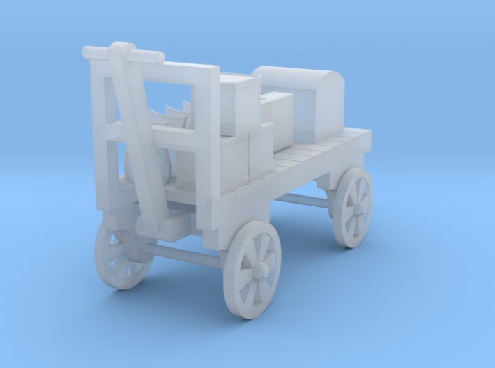 Baggage Cart Loaded - Half Size - HO 87:1 Scale 3d printed
