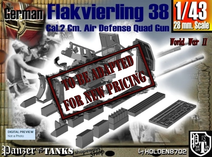1-43 Flakvierling 38 3d printed