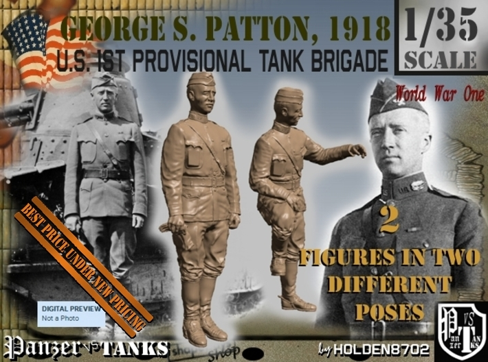 1-35 George S Patton 1918 3d printed
