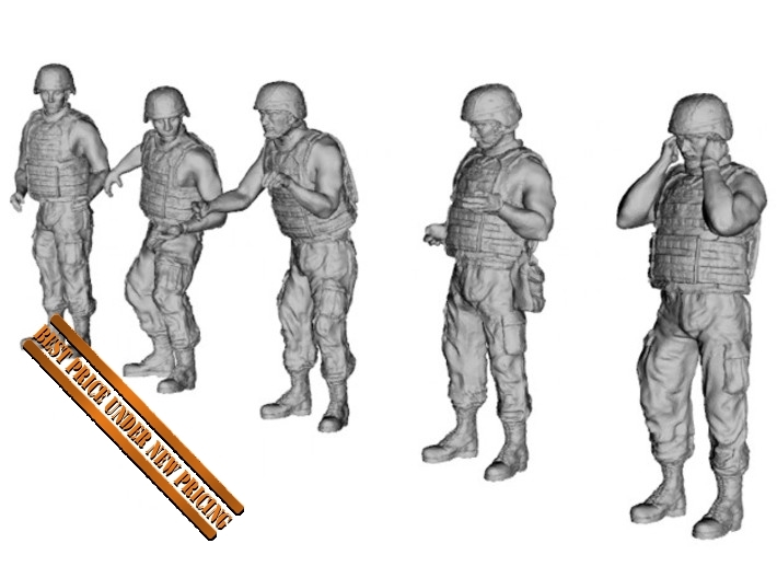 1-35 US Arty Crew Hot Weather Set4 3d printed