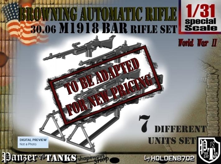 1-31 Browning BAR 1918A2 Set 3d printed
