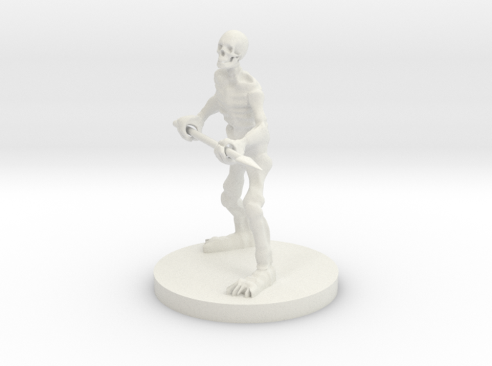 Skeleton with a Spear 3d printed