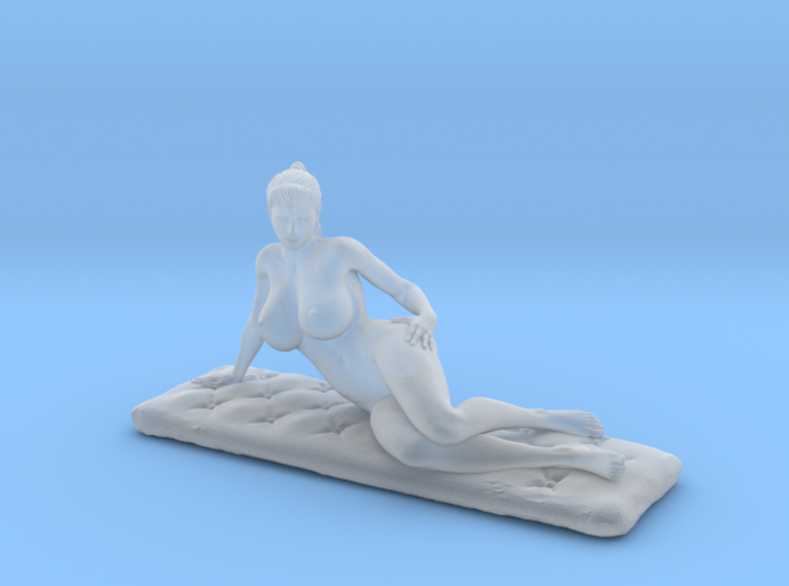 Artistic nude on cushion. v2 3d printed