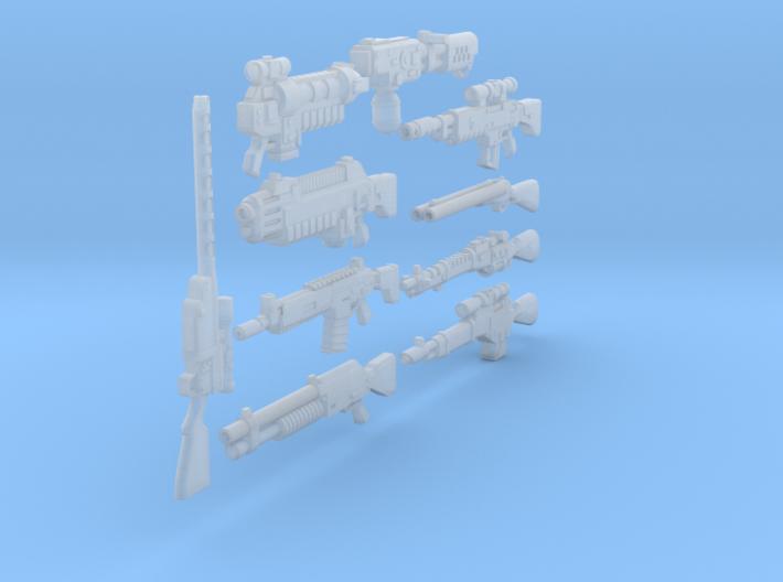 54mm Dark Future weapons 3d printed
