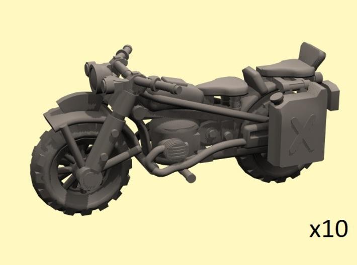 28mm WW2-style Motorbike model-2 (X10) 3d printed
