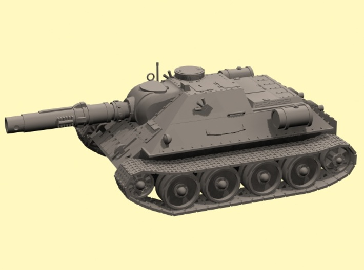 28mm Ice Guards SU-122M Tank destroyer 3d printed