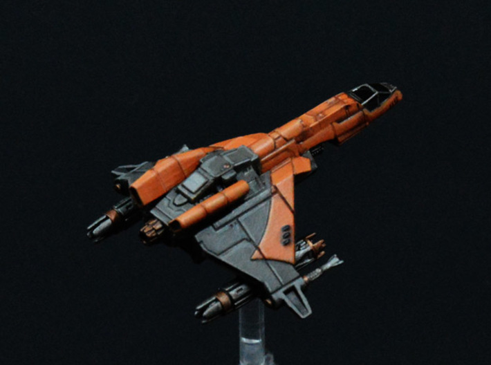 Vaksai Engine Booster Mod for Kihraxz Fighter 3d printed