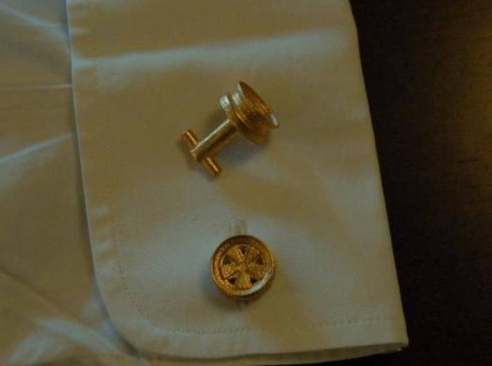 Fuchs wheel cufflink 3d printed Another angle
